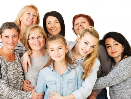 Multi-generational women showing age is not a skin type